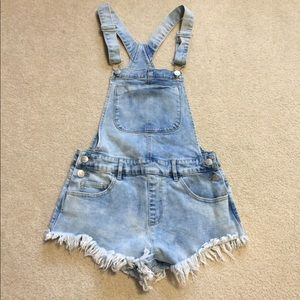 Forever 21 Cutoff Overalls